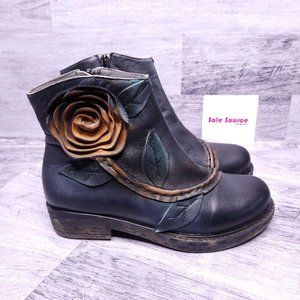 Socofy Flower Ankle Boot Blue 36